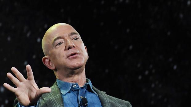 El fundador de Amazon durante su discurso en el congreso