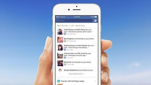 Facebook: si la montaña no va al usuario las notificaciones lo harán