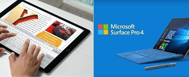 El iPad Pro frente al Surface Pro 4: ¿adiós al PC?