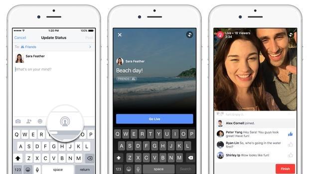 Zuckerberg pone en marcha los vídeos en directo