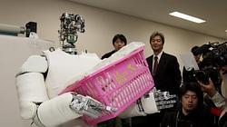 Robot de la Universidad de Tokio capaz de manejar cestos de 30 kilos