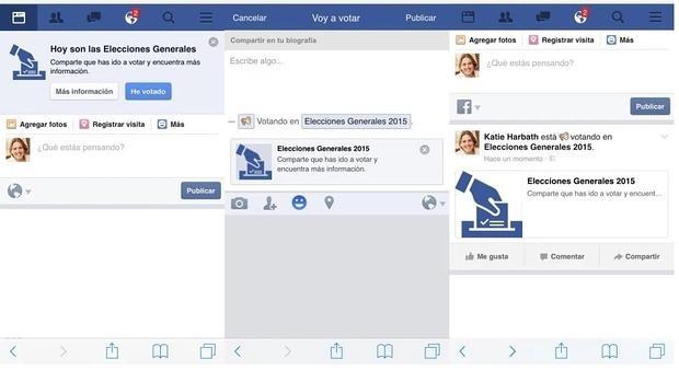 Facebook activará el botón «He votado» en las elecciones generales del 20-D