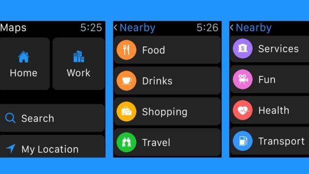 Apple introducirá las búsquedas cercanas de mapas en WatchOS 2.2