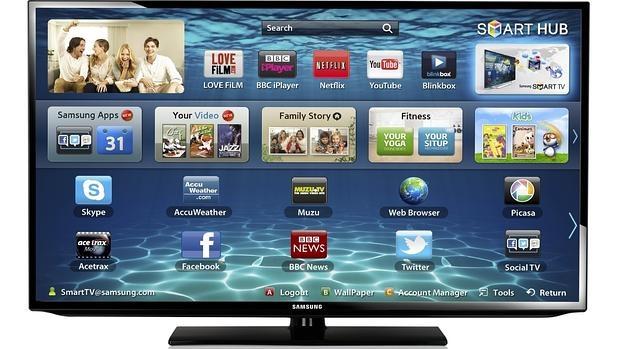 Detalle de una televisión inteligente de Samsung