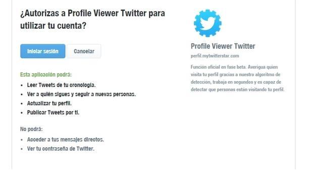 El timo que promete saber quién visita tu perfil en Twitter