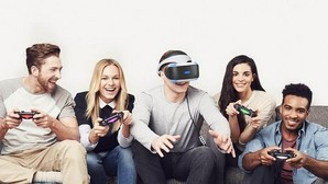 Detalle del dispositivo de realidad virutal Sony PlayStation VR