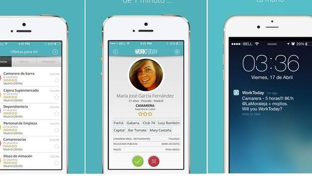 Worktoday: una «app» que promete un trabajo en cinco minutos