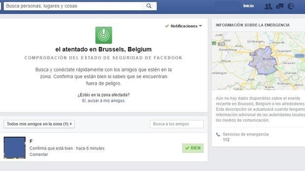 Facebook ayuda en los atentados de Bruselas
