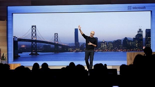 Satya Nadella, consejero delegado de Microsoft, durante el Build del año pasado