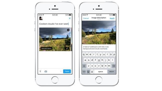 Twitter permite añadir descripciones a las imágenes para hacerlas más accesibles