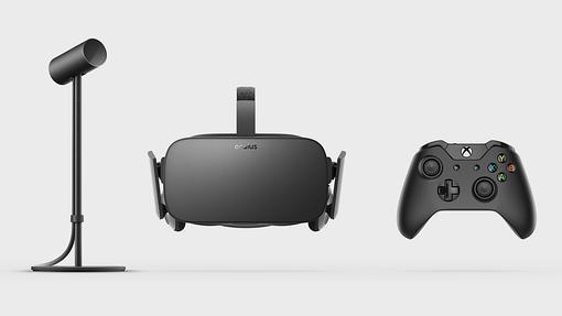 Detalle de las gafas de realidad virtual Oculus Rift
