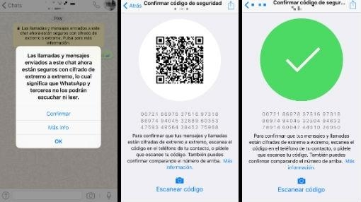 Es necesario escanear el código QR para proteger los chats