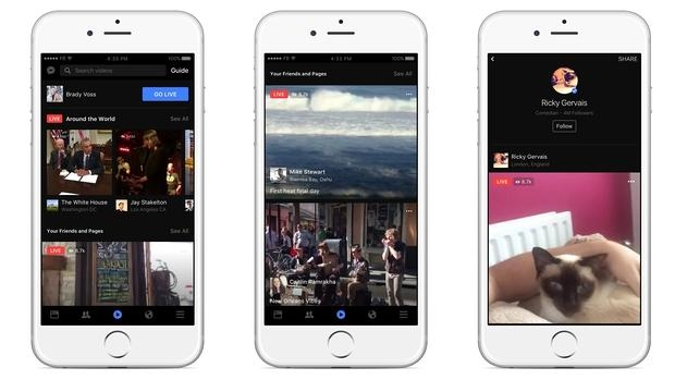 Facebook apuesta por el vídeo en directo con Live: interactivo, universal y creativo