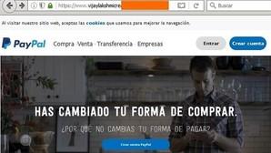 Una captura de la dirección falsa de PayPal que busca estafar a los usuarios