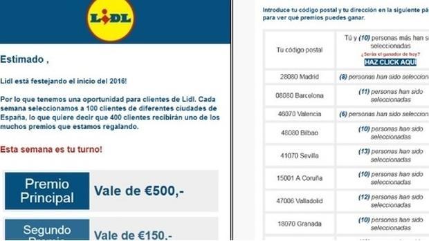 Alerta por correos falsos del supermercado Lidl que prometen vales de descuento