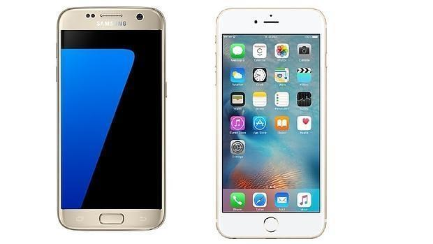 Samsung Galaxy S7 vs iPhone de Apple 6s
