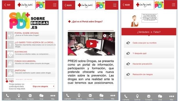 SobreDrogas, la «app» de Cruz Roja para ayudarte