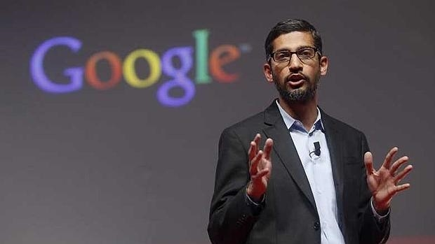 Sundar Pichai, consejero delegado de Google, durante una conferencia