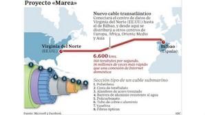 Telefónica se reserva el derecho a comprar parte del cable submarino