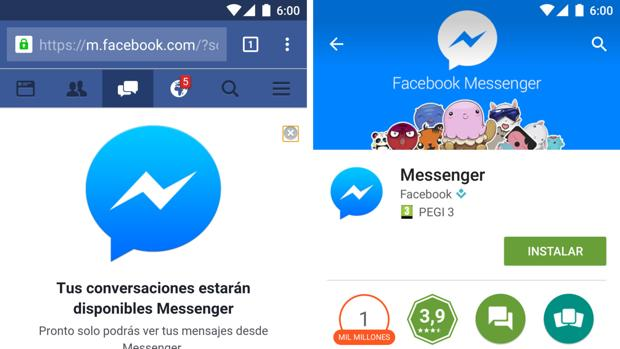 Ya no podrás chatear desde la web móvil de Facebook