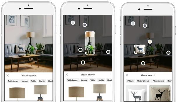 Pinterest permitirá comprar con solo tomar fotografías de un producto