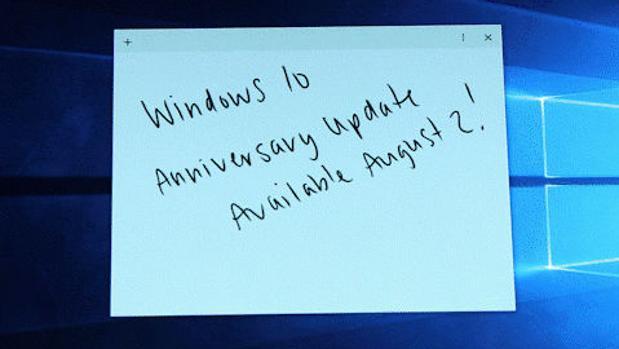 La primera gran actualización de Windows 10 llegará el 2 de agosto