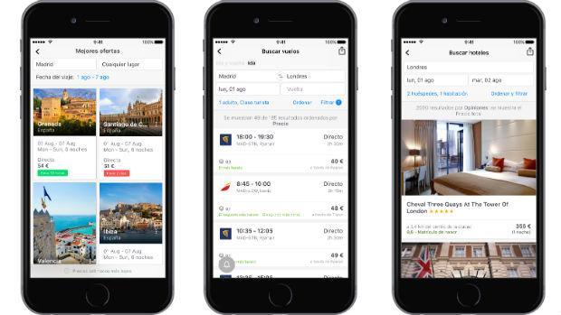 Hoteles y coches, las nuevas búsquedas que incorpora Skyscanner a su «app» de vuelos