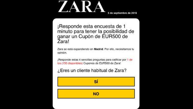 Regresa el fraude de los vales descuento en Zara