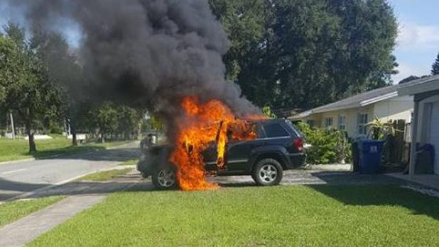 Un Samsung Galaxy Note 7 provoca el incendio de un coche en Florida