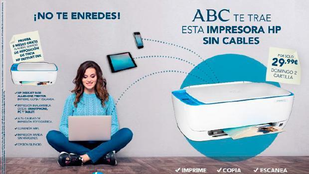 Consigue una impresora HP todo en uno sin cables, con ABC