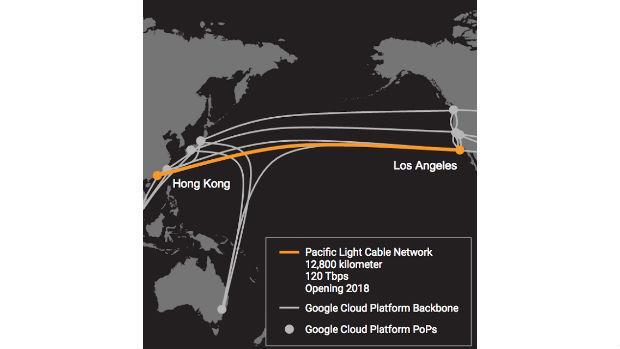 Google y Facebook construirán el cable submarino más rápido del Pacífico, entre Los Ángeles y Hong Kong