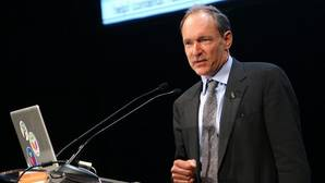Tim Berners-Lee, en una imagen de 2009, durante una conferencia en Madrid