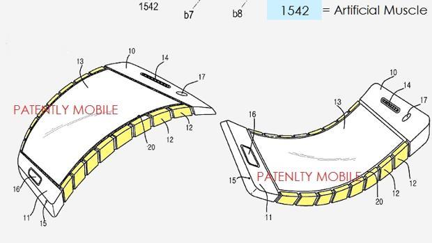 Diseño de la patente presentada por Samsung