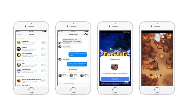 Ya puedes jugar en Facebook Messenger mientras charlas con tus amigos