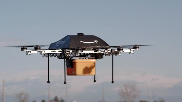 Imagen de uno de los drones de Amazon