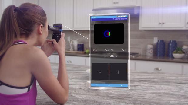 Con este dispositivo y tu móvil podrás graduarte la vista