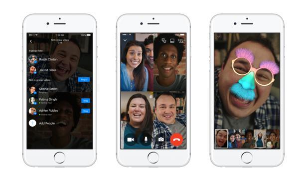 Facebook permite videollamadas de hasta 50 personas