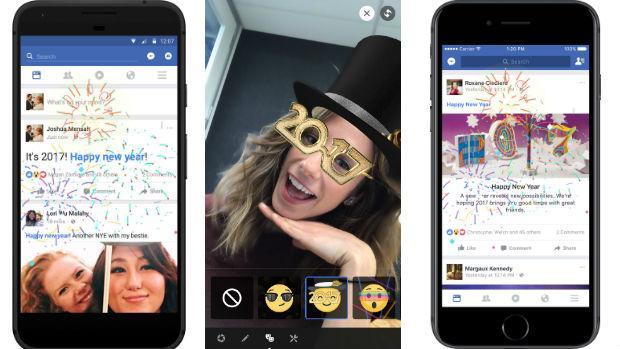 Celebra con Facebook el Año Nuevo