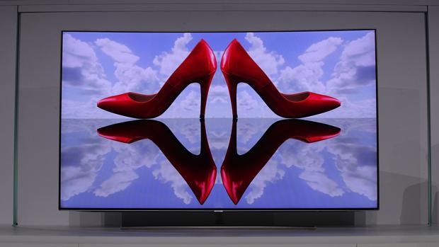 Detalle de uno de los nuevos modelos de televisor de Samsung