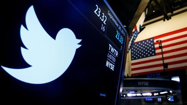 Logo de Twitter en la Bolsa de Nueva York