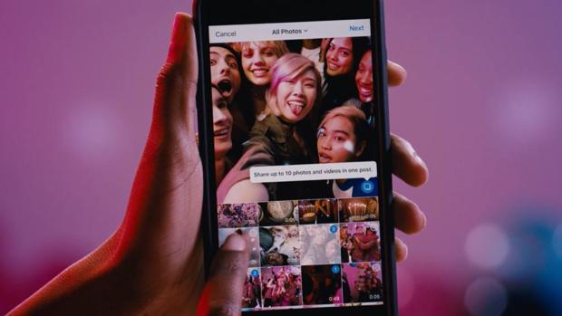 Instagram permite desde ahora añadir hasta 10 fotos y vídeos en un solo post