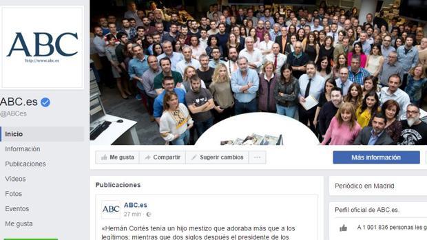 ABC supera el millón de seguidores en Facebook