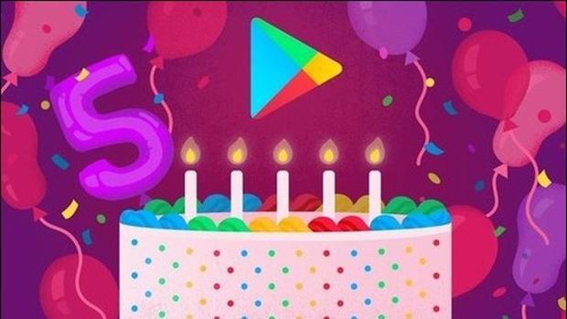 Google Play cumple 5 años. Las 5 apps y juegos más descargados