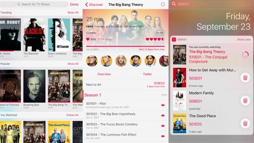 Las mejores «apps» para series adictos