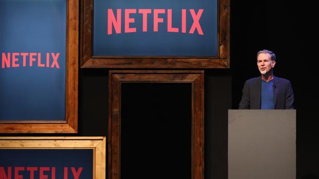 Reed Hastings, consejero delegado de Netflix, durante una intervención