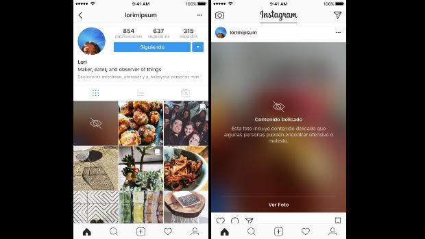 Instagram alertará de contenido «delicado» a los usuarios
