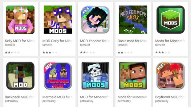 Cuidado con los falsos mods de Minecraft en Google Play