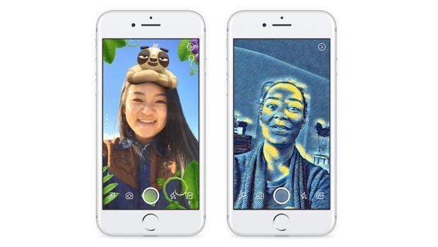 Facebook completa su copia a Snapchat con efectos de cámara y la llegada de las Historias efímeras