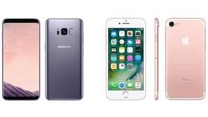 Comparativa: Galaxy S8 frente al iPhone 7: ¿cuál es mejor?