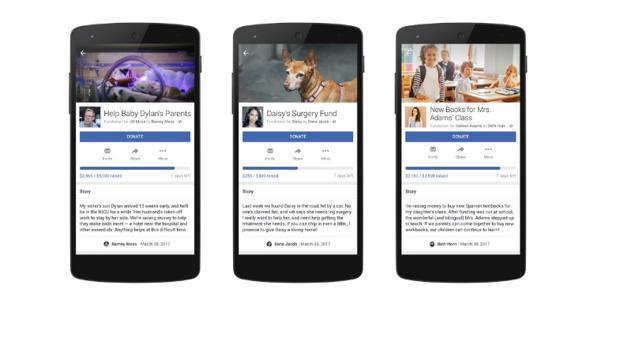 Facebook entra en el negocio de las donaciones personales